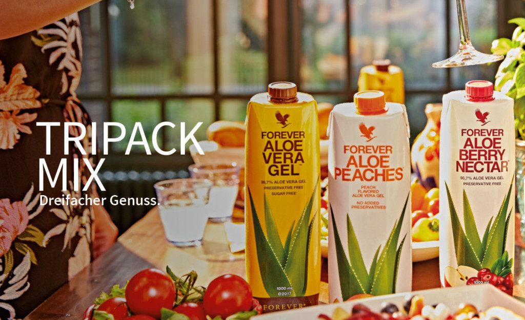 Aloe Vera Drink als Tripack Mix